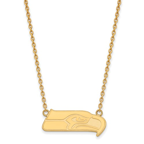 Seattle Seahawks Pendant Necklace 14k Yellow Gold