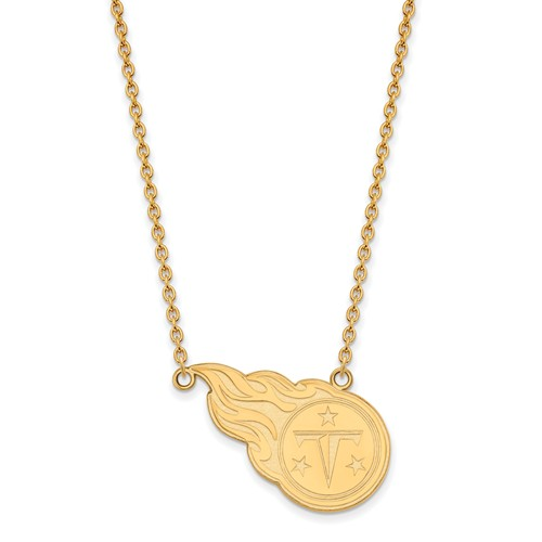 Tennessee Titans Pendant Necklace 10k Yellow Gold