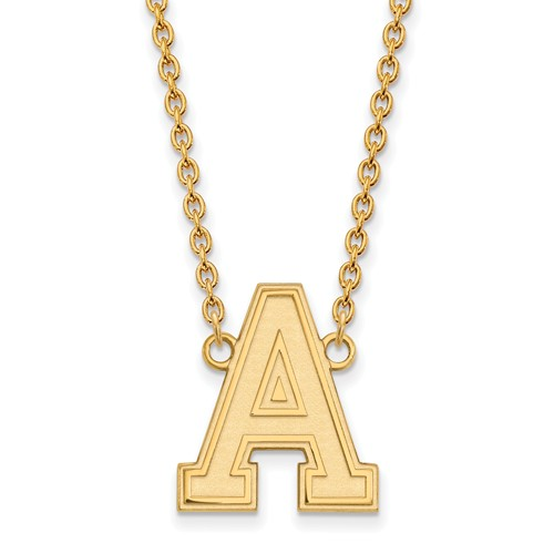 United States Military Academy Logo Necklace 3/4in 10k Yellow Gold