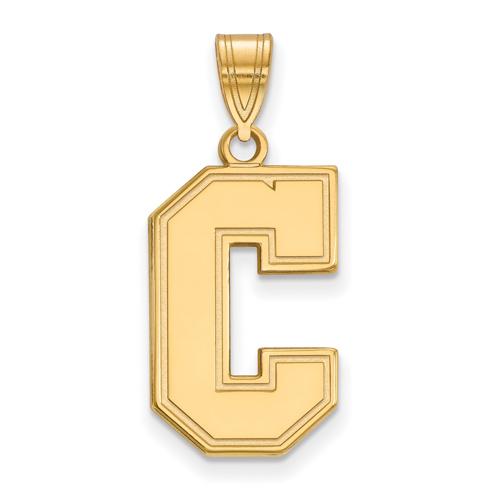College of Charleston C Pendant 3/4in 14k Yellow Gold