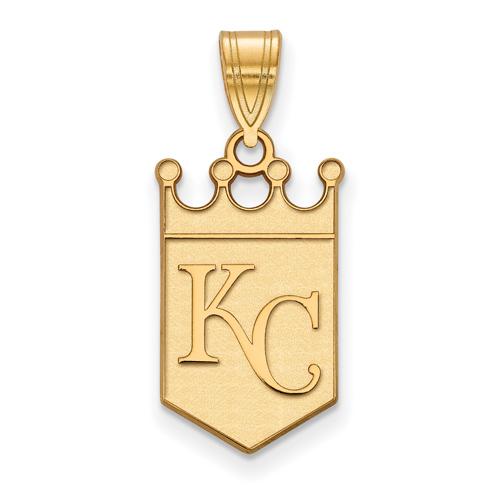 10kt Yellow Gold 3/4in Kansas City Royals Crown Pendant