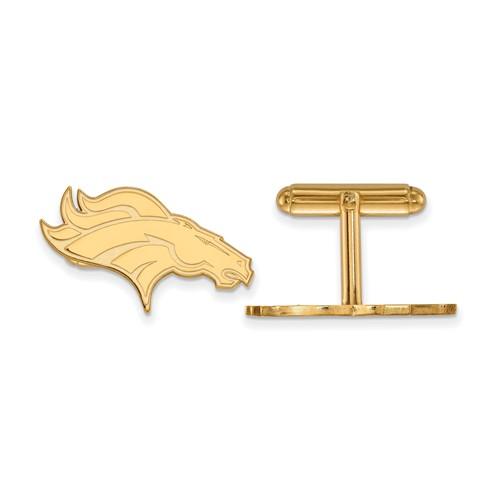 Denver Broncos Cuff Links 14k Yellow Gold