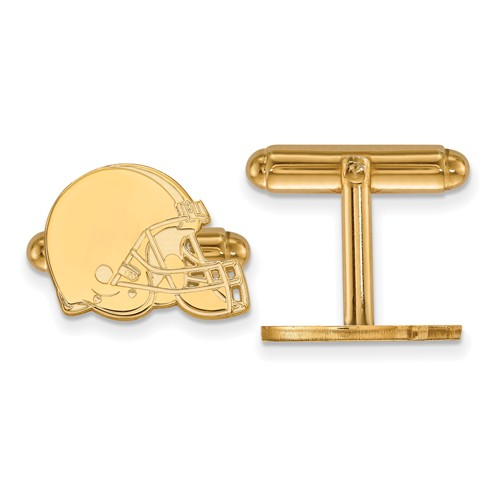 Cleveland Browns Cuff Links 14k Yellow Gold