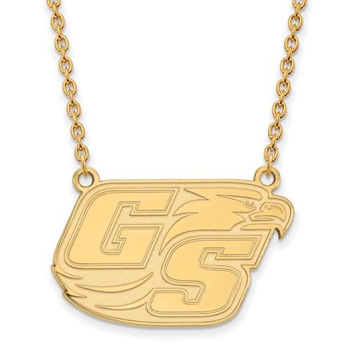 14k Yellow Gold Georgia Southern University Logo Necklace