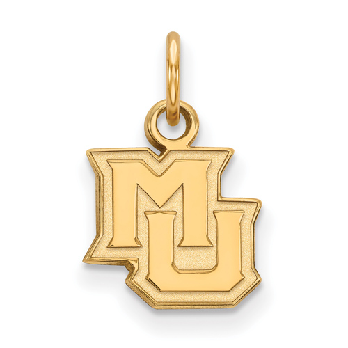 Marquette University MU Pendant 1/2in 10k Yellow Gold