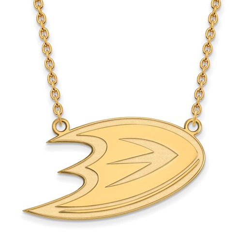 10k Yellow Gold Anaheim Ducks Logo Necklace