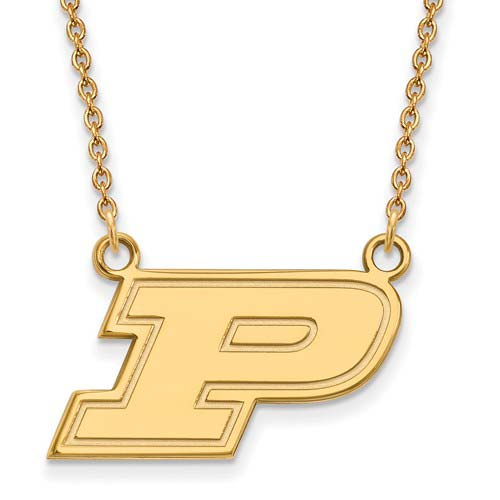 10k Yellow Gold Purdue University Small Necklace