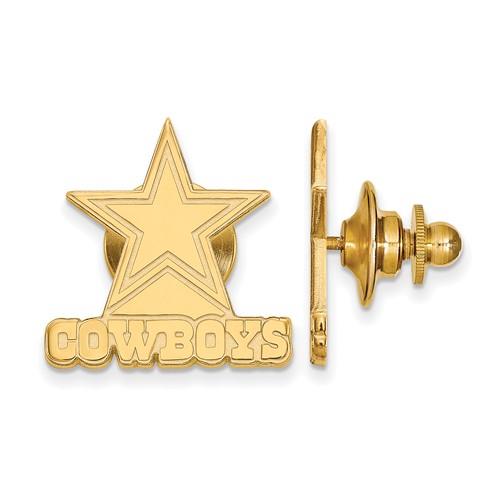 14k Yellow Gold Dallas Cowboys Lapel Pin