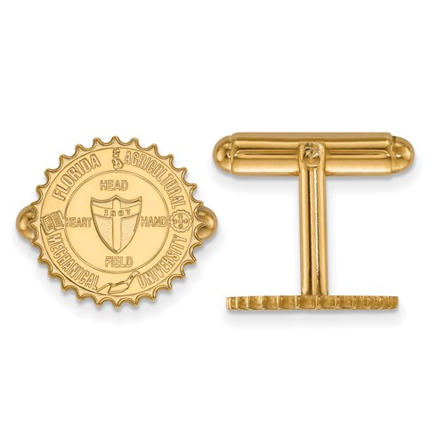 14k Yellow Gold Florida A&M University Crest Cuff Links