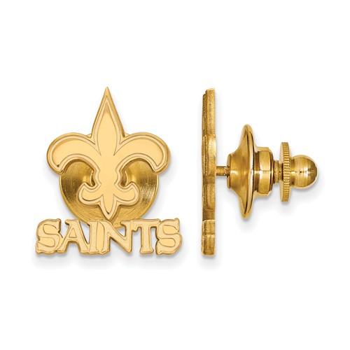 14k Yellow Gold New Orleans Saints Lapel Pin