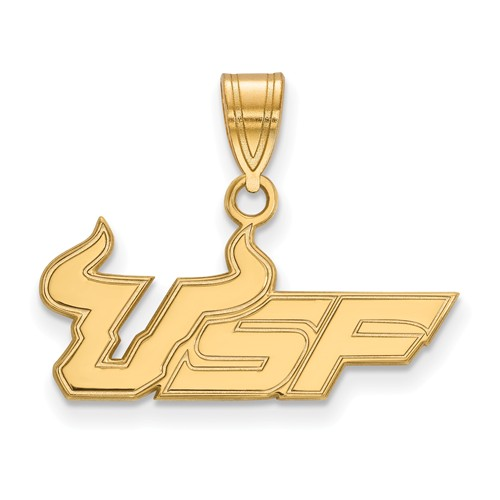 14k Yellow Gold University of South Florida USF Pendant 5/8in