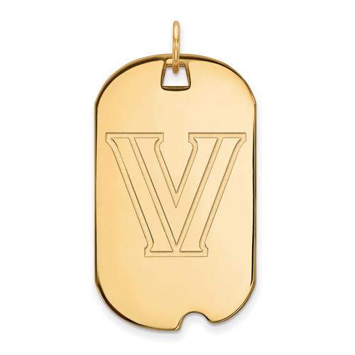 Villanova University Dog Tag 14k Yellow Gold