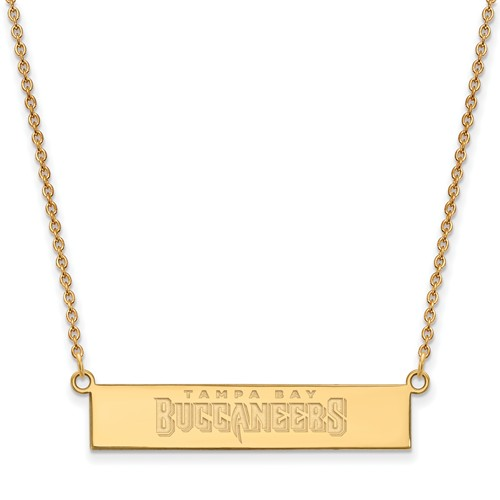 14k Yellow Gold Tampa Bay Buccaneers Bar Necklace