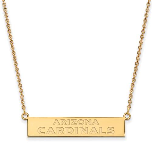 10k Yellow Gold Arizona Cardinals Bar Necklace