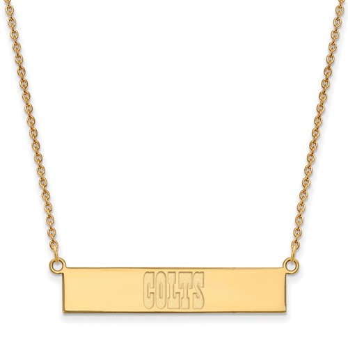 14k Yellow Gold Indianapolis Colts Bar Necklace