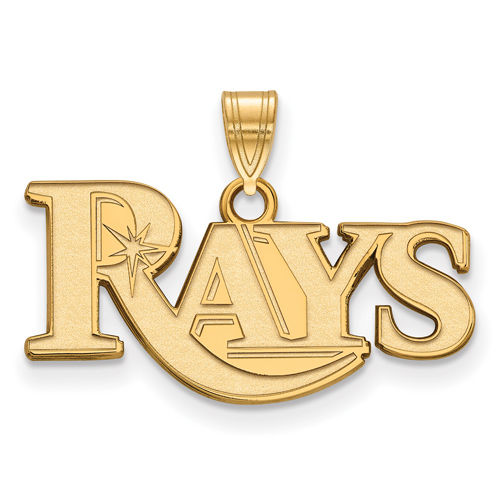 14k Yellow Gold 3/8in Tampa Bay Rays Pendant