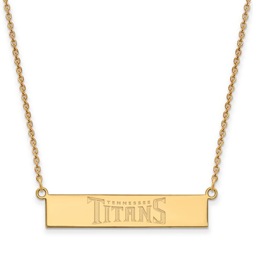 14k Yellow Gold Tennessee Titans Bar Necklace