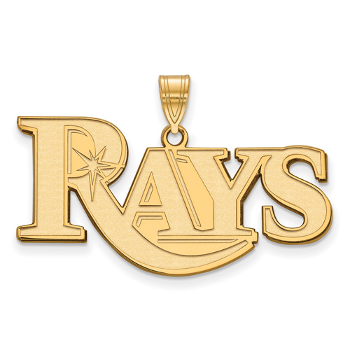 10k Yellow Gold Large Tampa Bay Rays Pendant