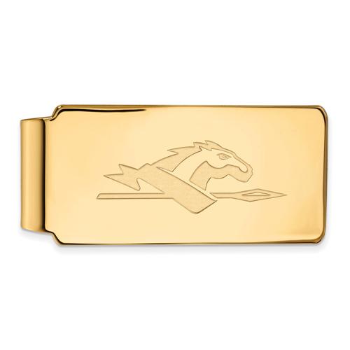 10k Yellow Gold Longwood University Money Clip
