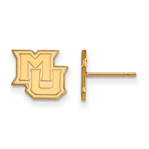 Marquette University Extra Small Post Earrings 10k Yellow Gold