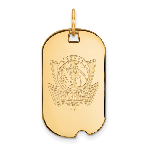 10k Yellow Gold Small Dallas Mavericks Dog Tag