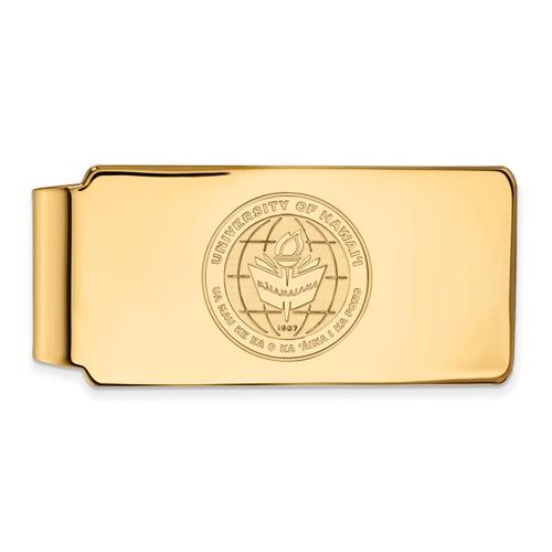University of Hawaii Seal Money Clip 10k Yellow Gold