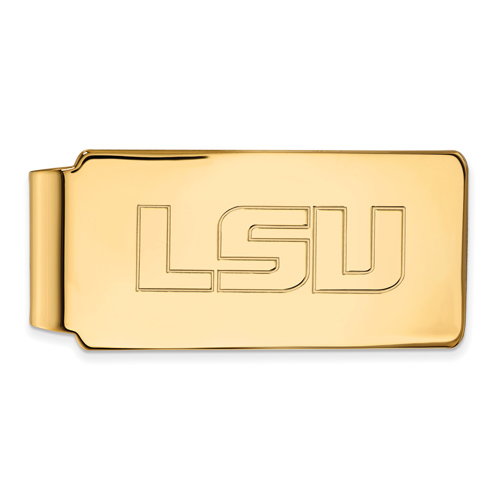 10kt Yellow Gold Louisiana State University Block S Money Clip