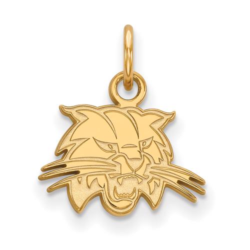 Ohio University Bobcat Charm 3/8in 10k Yellow Gold