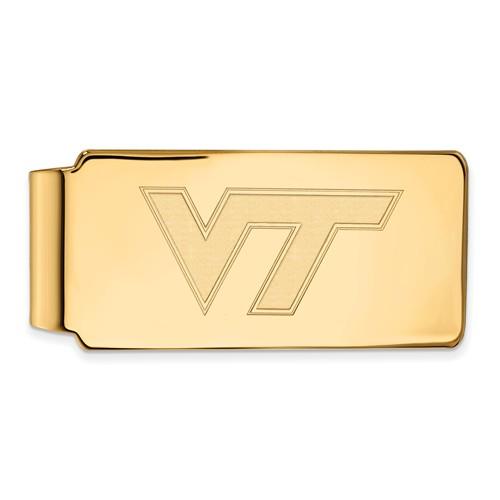 14k Yellow Gold Virginia Tech Money Clip