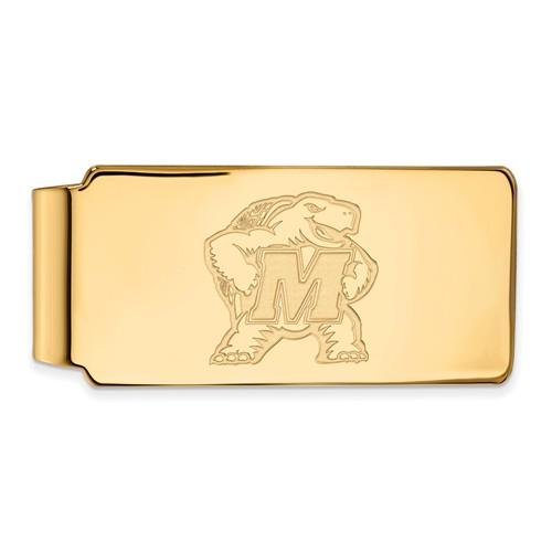 10k Yellow Gold University of Maryland Terrapin Money Clip