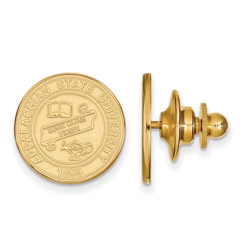 Appalachian State University Crest Lapel Pin 14k Yellow Gold