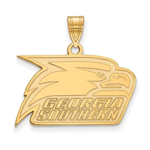 Georgia Southern University Athletic Pendant 5/8in 14k Yellow Gold