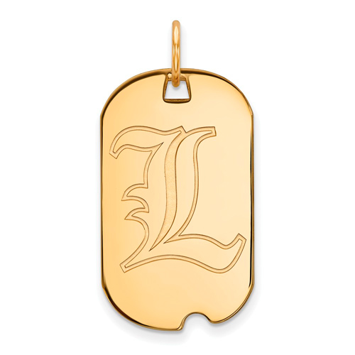 10k Yellow Gold University of Louisville Small Dog Tag