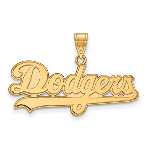 10k Yellow Gold Los Angeles Dodgers Name Pendant