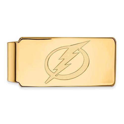 10k Yellow Gold Tampa Bay Lightning Money Clip