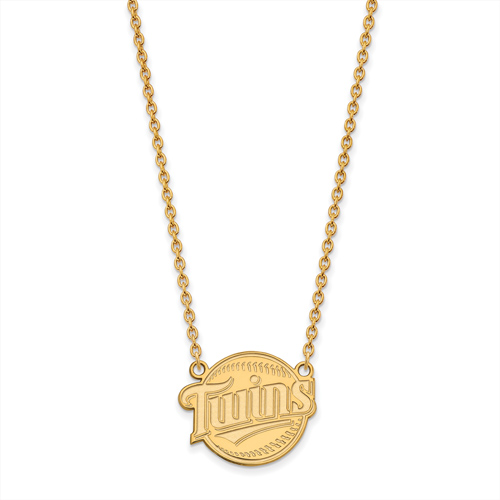 14k Yellow Gold Minnesota Twins Pendant on 18in Chain