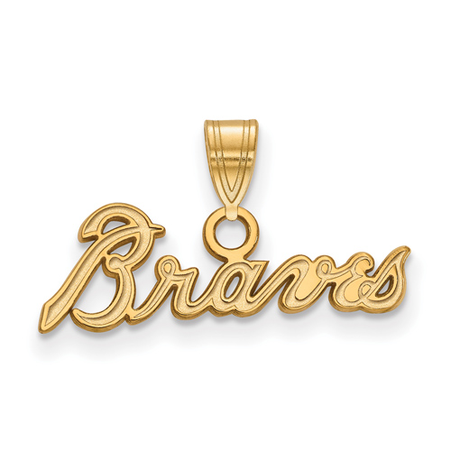 14kt Yellow Gold 1/4in Braves Pendant