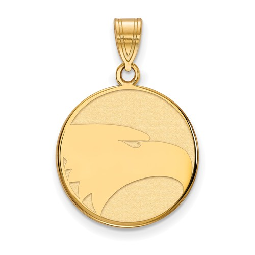 10k Yellow Gold Georgia Southern University Eagle Disc Pendant