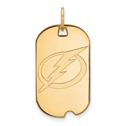 10k Yellow Gold Tampa Bay Lightning Small Dog Tag