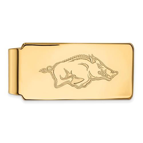 14k Yellow Gold University of Arkansas Money Clip