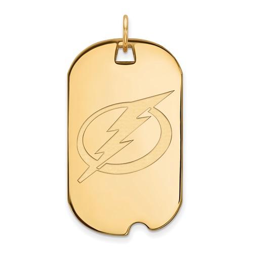 10k Yellow Gold Tampa Bay Lightning Dog Tag
