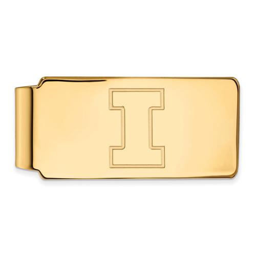 14kt Yellow Gold University of Illinois Money Clip