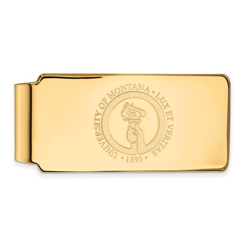 14k Yellow Gold University of Montana Money Clip