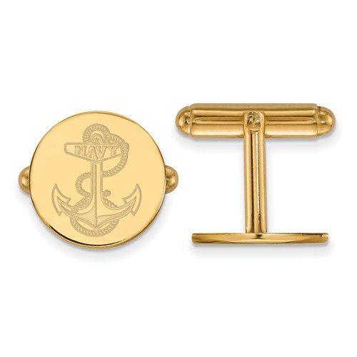 United States Naval Academy Anchor Cuff Links 14k Yellow Gold