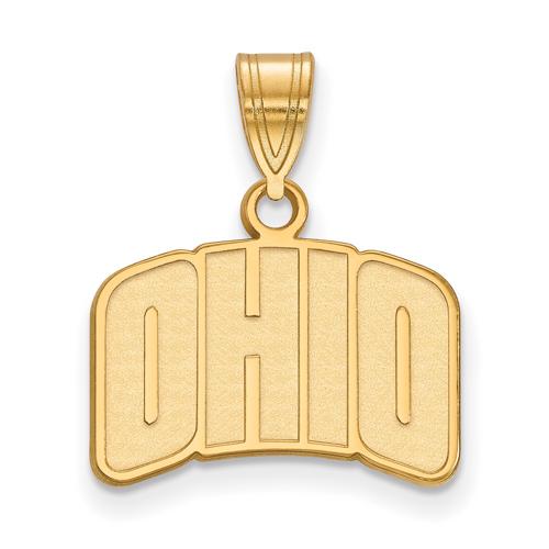 Ohio University OHIO Pendant 1/2in 10k Yellow Gold