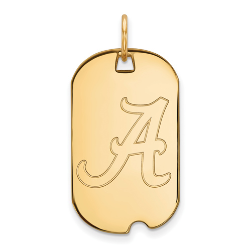 14kt Yellow Gold University of Alabama Small Dog Tag