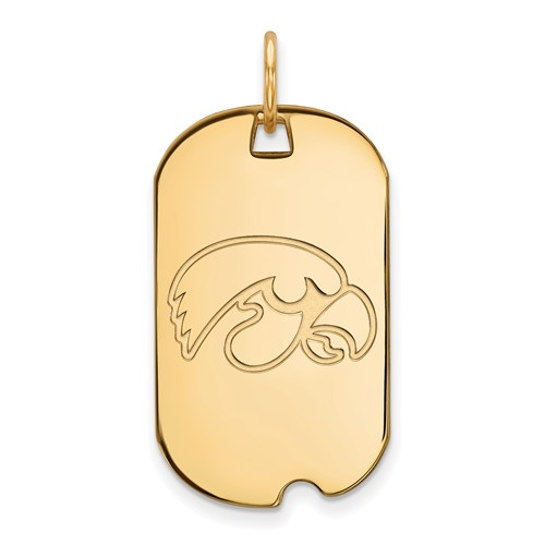 10k Yellow Gold University of Iowa Small Dog Tag