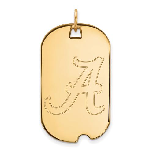 14kt Yellow Gold University of Alabama Dog Tag