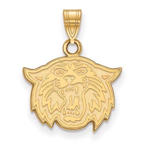 Villanova University Wildcat Pendant 1/2in 10k Yellow Gold