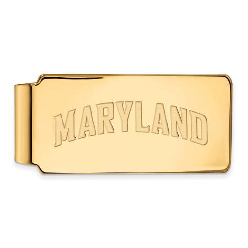 10k Yellow Gold University of Maryland MARYLAND Money Clip
